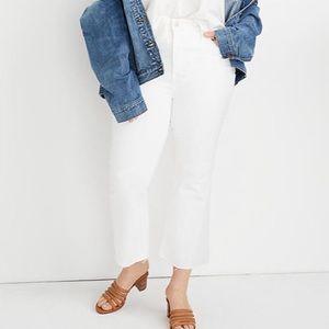 Madewell Cali Demi boot white jeans 34 NWT